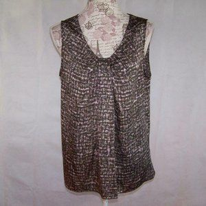 Ann Taylor Loft Shirt Top Shell Sleeveless Pleats